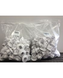 WHITE 40MM PUSHIN EYEBALLS - BULK PACK 100