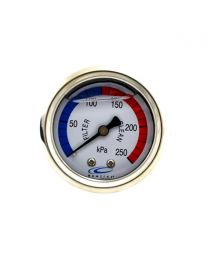 PRESSURE GAUGE -OIL FILLED BACK MOUNT