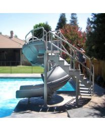 VORTEX FULL TUBE SLIDE - Granite - Stairs